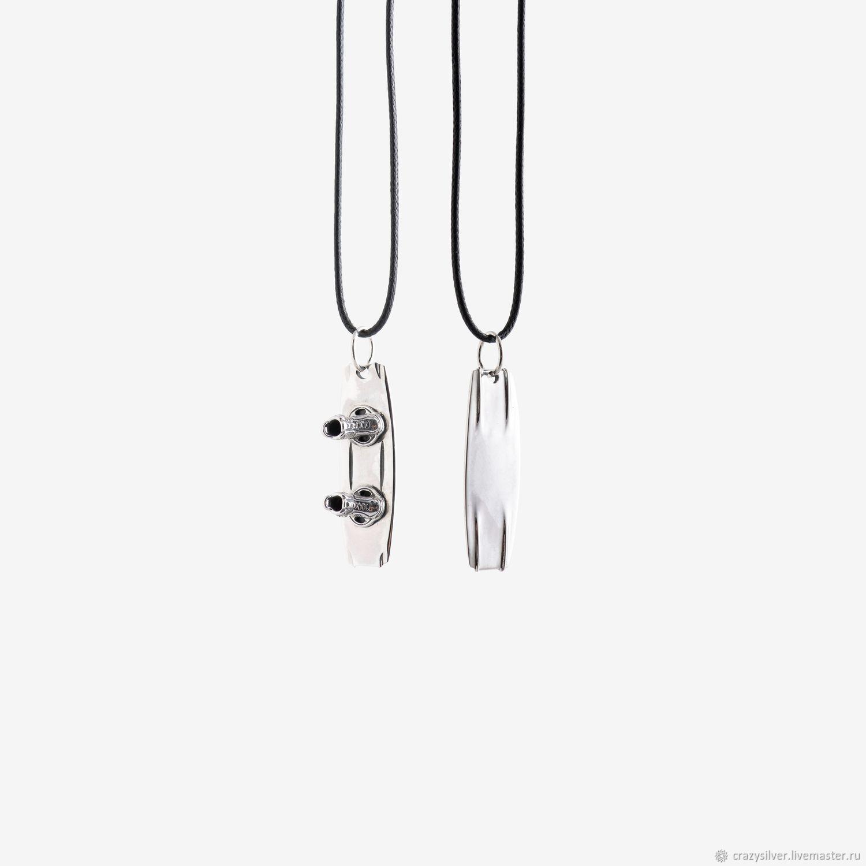 Кулон вейкборд.  CRAZY SILVER ™    Кулон ручной работы из серебра 925, максимальная детализация, масштабная копия вейкборда