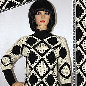 Одежда handmade. Livemaster - original item Classic crocheted jumper.. Handmade.