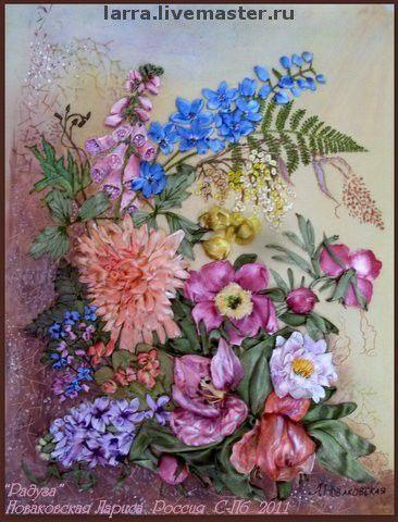 """Картины цветов ручной работы. Ярмарка Мастеров - ручная работа. Купить картина """"Радуга"""". Handmade. Ручная работа, цветы"""