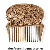 Сувениры и подарки ручной работы. Ярмарка Мастеров - ручная работа Гребень для волос деревянный. Handmade.