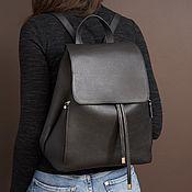 handmade. Livemaster - original item Backpack leather female