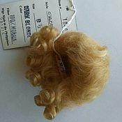 Куклы и игрушки ручной работы. Ярмарка Мастеров - ручная работа Парик мохеровый, Chloe, размер 6,5, светлый блонд. Handmade.