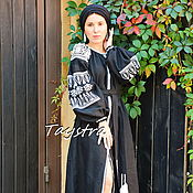 Одежда handmade. Livemaster - original item Arabic Dress Black Maxi Dress Arabic style, Embroidered Dress. Handmade.