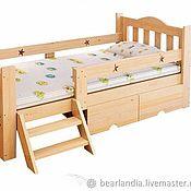 Кровати ручной работы. Ярмарка Мастеров - ручная работа Детская деревянная кровать Ковбой из массива. Handmade.