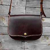 Сумки и аксессуары handmade. Livemaster - original item Leather bag Dark Sail, saddle bag, messenger. Handmade.