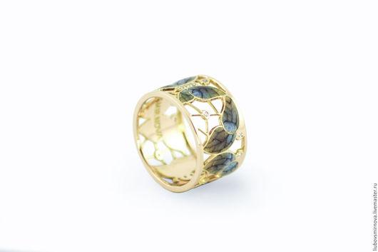 Кольца ручной работы. Ярмарка Мастеров - ручная работа. Купить Кольцо золотое бабочки горячая эмаль. Handmade. Кольцо