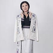 Одежда ручной работы. Ярмарка Мастеров - ручная работа Пальто женское вышитое. Handmade.