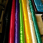 Материалы для творчества ручной работы. Ярмарка Мастеров - ручная работа Атлас гладкокрашеный. Handmade.