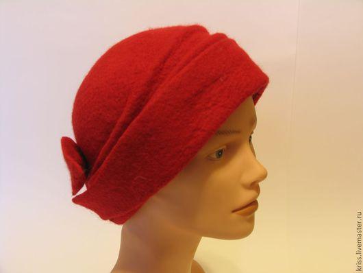 Шляпы ручной работы. Ярмарка Мастеров - ручная работа. Купить Кармэнские Страсти.... Handmade. Ярко-красный, Валяние, Шляпа валяная