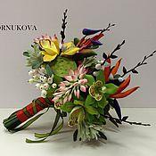 Цветы и флористика ручной работы. Ярмарка Мастеров - ручная работа Букет из тропических цветов. Handmade.