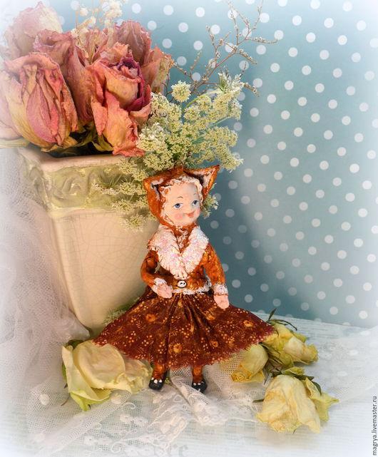 Куклы и игрушки ручной работы. Ярмарка Мастеров - ручная работа. Купить Игрушка Кукла Девочка Лиса Лизонька. Handmade. Рыжий