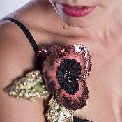 Украшения ручной работы. Ярмарка Мастеров - ручная работа Брошь - маковый цветок, ручная вышивка, коллекция FRIDA KAHLO. Handmade.
