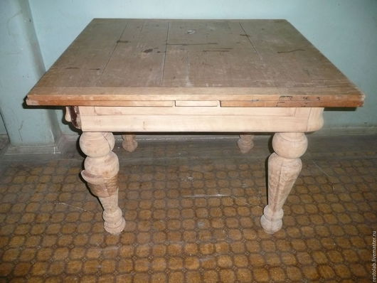 Реставрация. Ярмарка Мастеров - ручная работа. Купить Реставрация старинного обеденного стола. Отделка эмалью.. Handmade. Бежевый, старинная мебель
