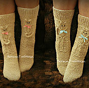 Аксессуары handmade. Livemaster - original item Long socks on girls,