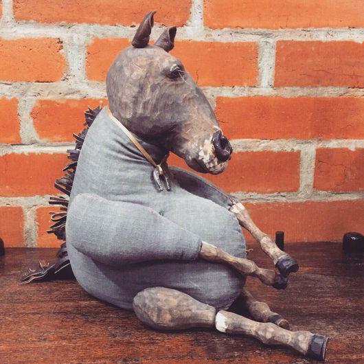 Игрушки животные, ручной работы. Ярмарка Мастеров - ручная работа. Купить Деревянный конь Воробушек стареющий атлет ручная работа. Handmade.