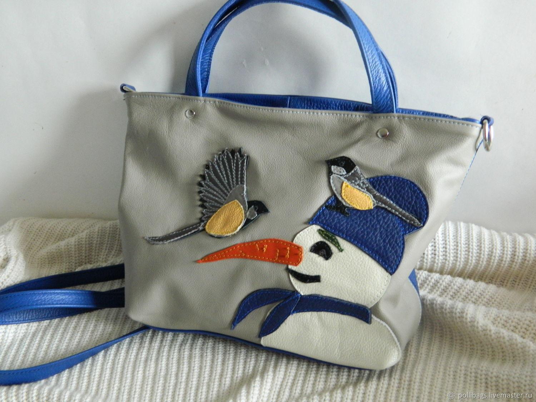 Bag leather womens bag with applique winter friend u2013 shop online on