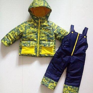 Товары для малышей ручной работы. Ярмарка Мастеров - ручная работа Зимний комплект куртка и полукомбинезон. Handmade.