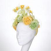 Свадебный салон ручной работы. Ярмарка Мастеров - ручная работа Цветочное украшение для волос невесты, Ободок для невесты, Диадема,. Handmade.