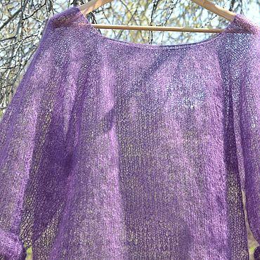 """Одежда ручной работы. Ярмарка Мастеров - ручная работа Пуловер вязаный """"Сиреневое облако"""". Пуловер из мохера.. Handmade."""