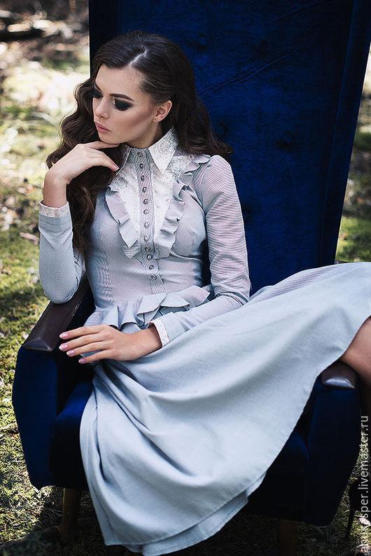 """Платья ручной работы. Ярмарка Мастеров - ручная работа. Купить Платье """"Агата"""". Handmade. Серый, платье, дизайнерское платье"""