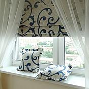 Для дома и интерьера ручной работы. Ярмарка Мастеров - ручная работа Римская штора Вензель. Handmade.