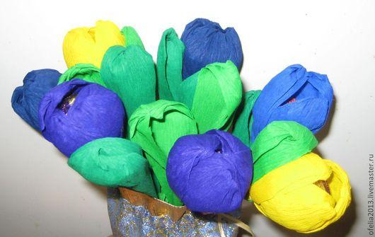 """Букеты ручной работы. Ярмарка Мастеров - ручная работа. Купить Букет из конфет -  """"Весеннее настроение"""". Handmade. Букет из конфет, цветы"""