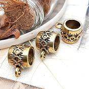 Материалы для творчества handmade. Livemaster - original item Bails for pendants and pendants ANTIQUE GOLD (1362). Handmade.
