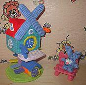 Куклы и игрушки ручной работы. Ярмарка Мастеров - ручная работа Вязаный домик Кроша.. Handmade.
