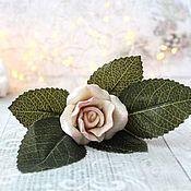 Материалы для творчества handmade. Livemaster - original item White rose silicone mold (3D). Handmade.