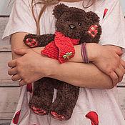 Мягкие игрушки ручной работы. Ярмарка Мастеров - ручная работа Мягкие игрушки: Мишка цвета шоколад. Handmade.