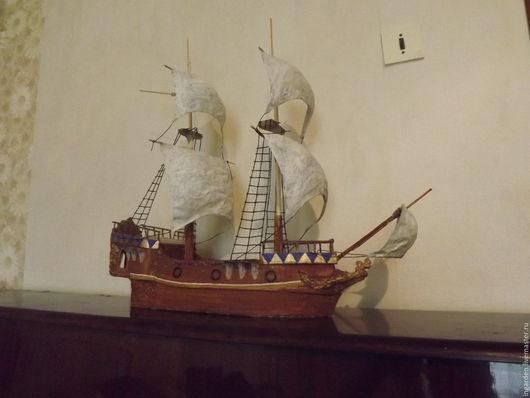Развивающие игрушки ручной работы. Ярмарка Мастеров - ручная работа. Купить детский корабль для игры. Handmade. Комбинированный, картон
