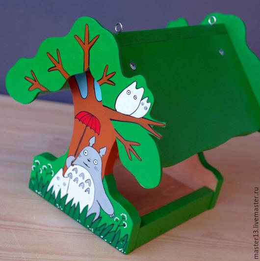 """Экстерьер и дача ручной работы. Ярмарка Мастеров - ручная работа. Купить Кормушка """"Тоторо"""". Handmade. Кормушка, дерево"""
