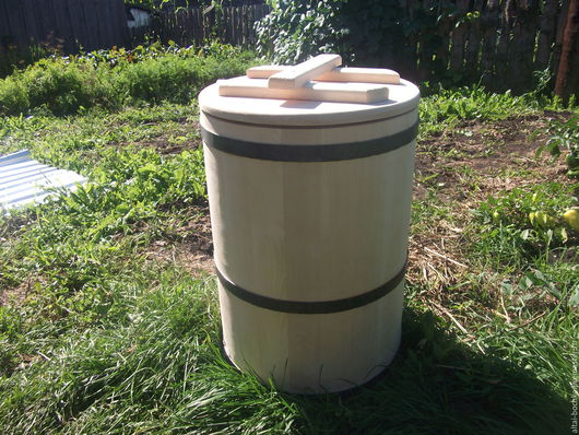 Банные принадлежности ручной работы. Ярмарка Мастеров - ручная работа. Купить чан для воды 50 литров. Handmade. Бежевый, бочка