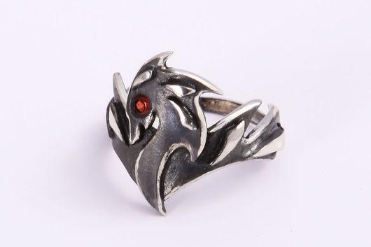 """Кольца ручной работы. Ярмарка Мастеров - ручная работа. Купить Кольцо """"Дракон"""". Handmade. Кольцо, серебряный"""