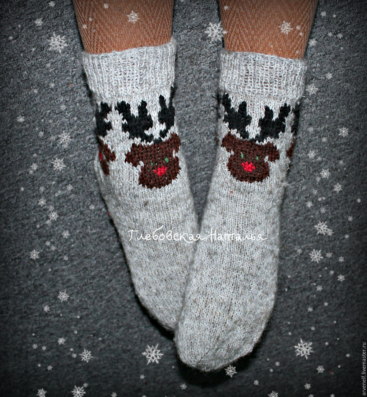 Socks 'Rudolph', Socks, Orenburg,  Фото №1
