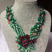 Украшения handmade. Livemaster - original item Necklace Flower fields. Handmade.