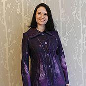 """Одежда ручной работы. Ярмарка Мастеров - ручная работа Жакет валяный """"Фиолетовый секрет"""". Handmade."""