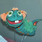Куклы и игрушки handmade. Livemaster - original item Caterpillar. Kinds theatrical doll with the mechanics.. Handmade.