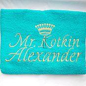 Полотенца ручной работы. Ярмарка Мастеров - ручная работа Создай свое именное полотенце. Handmade.