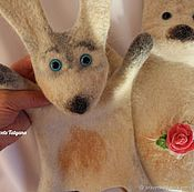 """Куклы и игрушки handmade. Livemaster - original item Валяная игрушка - кукла перчатка """"Бибабо"""" Зайчик. Handmade."""