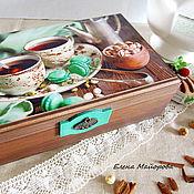 """Для дома и интерьера ручной работы. Ярмарка Мастеров - ручная работа Чайный короб """"Мятное настроение"""". Handmade."""
