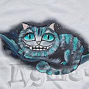 Одежда handmade. Livemaster - original item T-shirt  hand painted  Cheshire cat. Handmade.