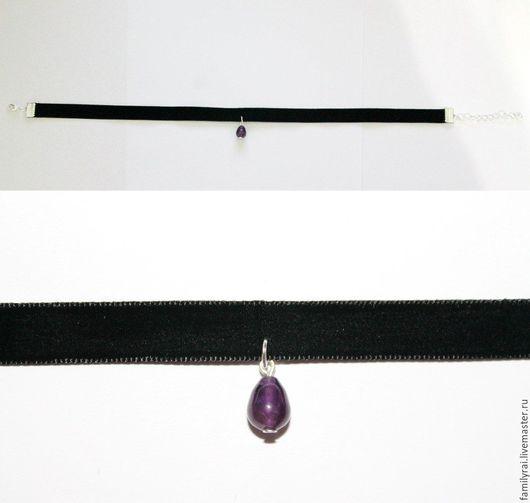 Пример выполненного изделия! Подвеска из камня - аметиста
