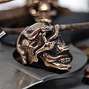 Материалы для творчества handmade. Livemaster - original item Snake leader bead, for lanyard, pendant, paracord, keychain, skull. Handmade.