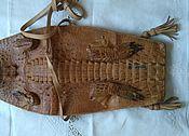 Винтажная сумка из кожи крокодила (настоящий крокодил).