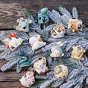 Сувениры и подарки handmade. Livemaster - original item Symbols of different years Toys for the Christmas tree. Handmade.