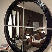 Для дома и интерьера handmade. Livemaster - original item Mirror in mosaic frame, black pearl 2. Handmade.