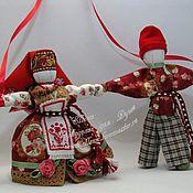 """Куклы и игрушки ручной работы. Ярмарка Мастеров - ручная работа Кукла-оберег семьи """"Сёмик с Семичихой"""" (по мотивам народной). Handmade."""