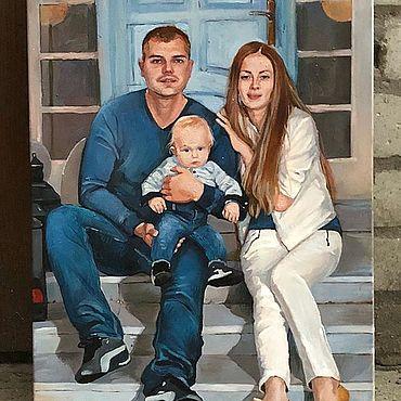 Картины и панно ручной работы. Ярмарка Мастеров - ручная работа Потрет семейный, портрет Яхта. Handmade.