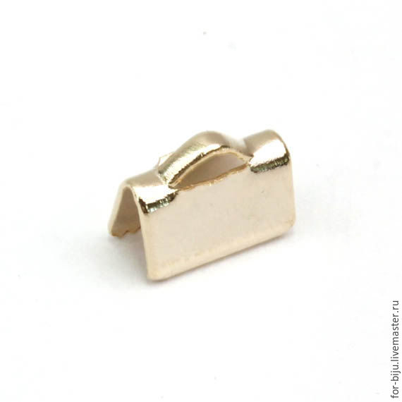 The clip is a trailer for the tape size 10*6 mm, material brass with 16K gold plated, manufactured in South Korea (Ref. 2354)